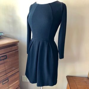 Boden Fit and Flare Black Dress